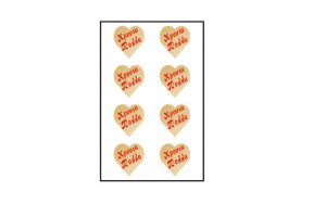 GOLD HEARTS STICKERS